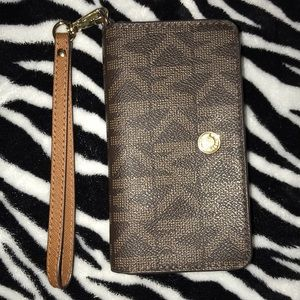 MK Wallet/Phone Holder Wristlet